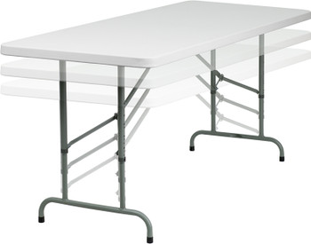 adjustable height folding tables. Black Bedroom Furniture Sets. Home Design Ideas