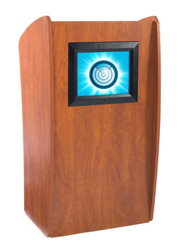 The Vision Floor Lectern With Digial Display By Oklahoma Sound (OK-612)