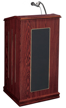 The Prestige Lectern With Sound By Oklahoma Sound (OK-711) Mahogany