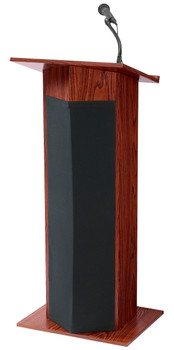 Power Plus Lectern By Oklahoma Sound (OK-111PLS) Mahogany