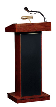 The Orator® Standard Height Lectern By Oklahoma Sound (OK-800X) Mahogany