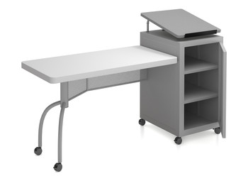 Edupod Lectern and Teacher's Desk Combo By Oklahoma Sound (OK-EDPD)