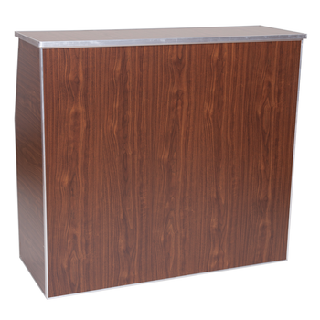 "Premier Series Portable Folding Bar - 48"" Wide - Walnut Laminate (PR3856)"