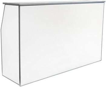 "Premier Series Portable Folding Bar with Storage Bag - 72"" Wide - White Laminate (PR3910)"