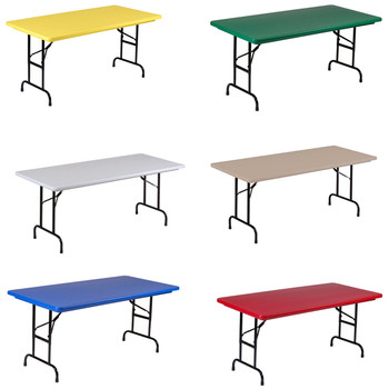 "R-Series By Correll 30""x72"" (6ft) USA Made Plastic Folding Table"