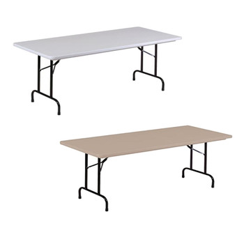"R-Series By Correll 30"" x 96"" (8ft) USA Made Plastic Folding Table"