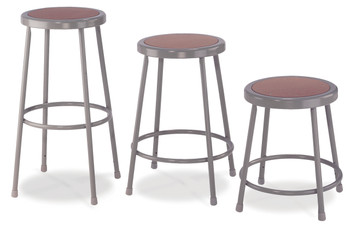Round Science Lab Stools With Hardboard Seat by National Public Seating