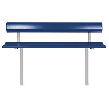 """Southern PikNik 12"""" x 96"""" (8ft) Aluminum Permanent Bench with Backrest (SA-P96PMB12S)"""
