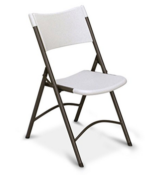 Correll RC400 CP Series Blow Molded Plastic 4-PACK Chairs, USA Made (CL-RC400)
