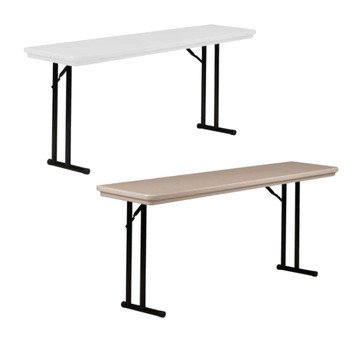 "R-Series By Correll 18"" x 72"" (6ft) Seminar Plastic Folding Table, with Offset Leg"