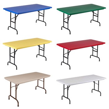 "R-Series By Correll 24"" x 48"" (4ft) Seminar Plastic Folding Table"