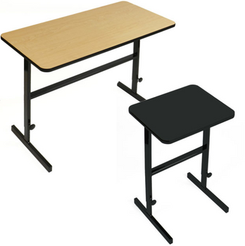 Correll Adjustable Standing Height High Pressure Laminate Work Station-USA Made (CL-CST)