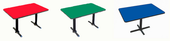 Correll Cafe' & Breakroom Rectangle Tables-High Pressure Laminate-USA Made (CL-BCT/BTT)