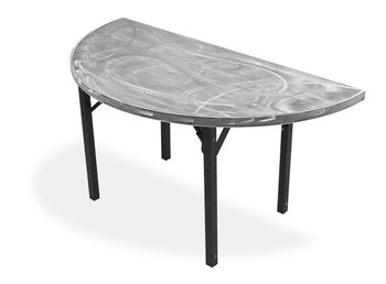 Swirl Half-Round & Quarter-Round Aluminum Folding Table with Individual Folding Legs-Satin