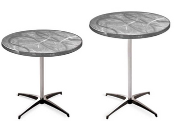 Swirl Aluminum Pedestal Cocktail Table