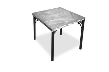 Swirl Aluminum Card Table with Individual Folding Legs