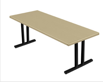 Alulite Seminar Aluminum Folding Table -Desert Tan