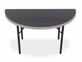 Alulite Half-Round & Quarter-Round Aluminum Folding Table with Individual Folding Legs-Salt & Pepper