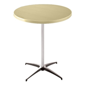 Alulite Aluminum Pedestal Cocktail Table-Desert Tan