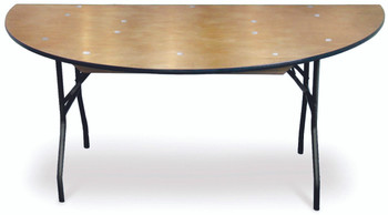 ProRent Plywood Half-Round Folding Table-USA Made (MC-PR-HALFROUND)