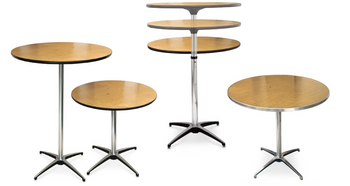 ProRent Plywood Pedestal Cocktail Table-USA Made (MC-PR-PEDESTAL)