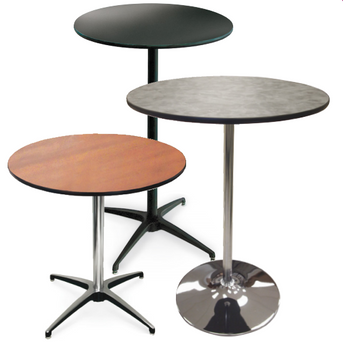 High Pressure Laminate Pedestal Cocktail Table-USA Made (MC-LAM-PEDESTAL)