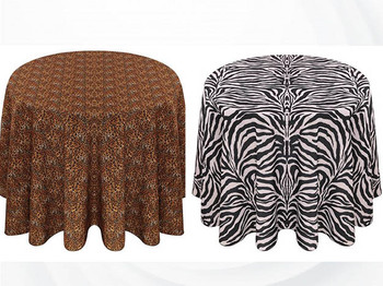 Animal Print Polyester Tablecloth Linen