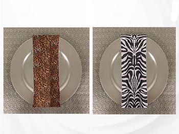 Dozen (12-pack) Animal Print Polyester Table Napkins