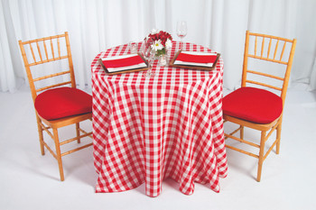 Checkered Print Spun Polyester Tablecloth Linen