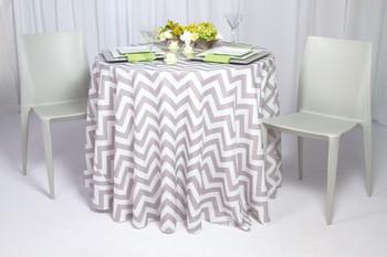 Chevron Polyester Tablecloth Linen