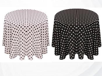 Dots Print Polyester Tablecloth Linen