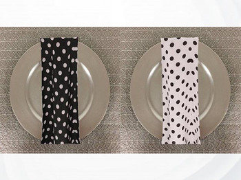 Dots Print Polyester Table Napkins