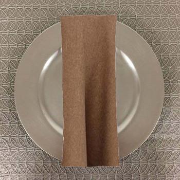 Dozen (12-pack)Faux Burlap Rustic Poly Textured Table Napkins