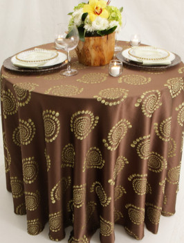 Kaleidoscope Art Deco Jacquard Tablecloth Linen