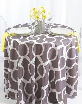 Liberty Key Geometric Print Polyester Tablecloth Linen