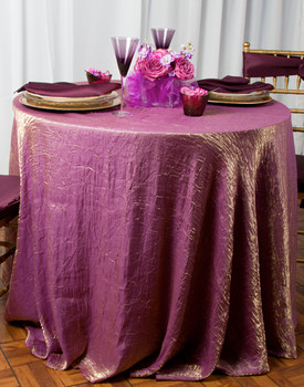 Shimmer Crush Fabric Tablecloth Linen