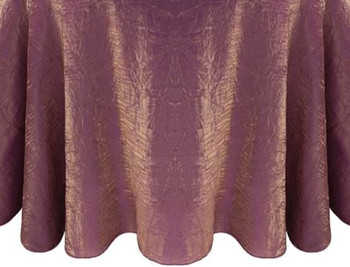 5 ft Wide Shimmer Crush Polyester Fabric Drapes-Violet Gold