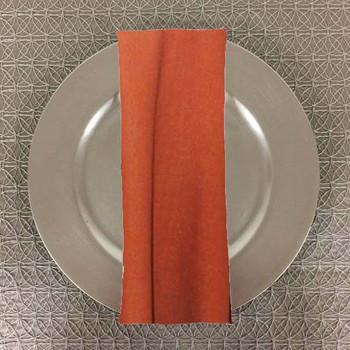 Dozen (12-pack) Panama Rustic Textured Table Napkins-Spice