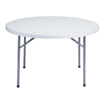 "48"" round plastic folding tables make a great cake table, or head table for a bride and groom. - Best Seller"