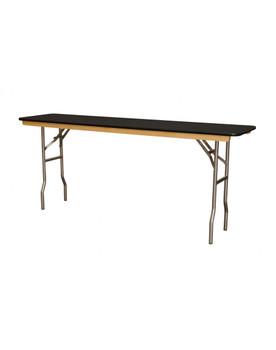 "Premier Series 18""W x 72""L (6FT) Black Laminate Seminar Folding Table"