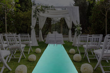 "30""W Matte Satin Aisle Runner-Tiffany Blue"