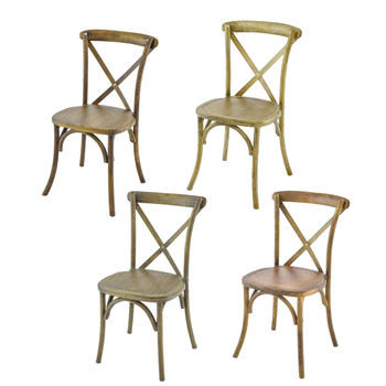 Vineyard Estate Cross Back Stack Chair