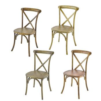 Vineyard Estate Cross Back Stack Chair