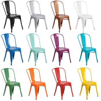 Indoor/Outdoor Metal Tolix Stacking Chairs