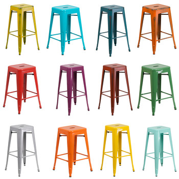 Indoor/Outdoor Metal Backless Stool (FL-BACKLESS-STOOL)