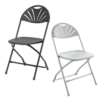 Rhino Fan Back Plastic Folding Chair