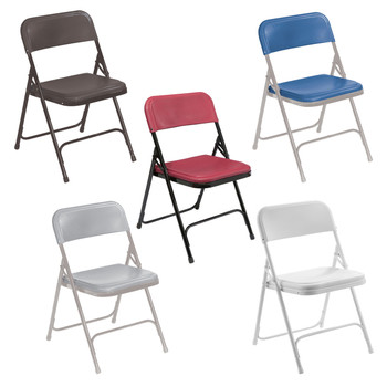 Body Builder Premium Lightweight Plastic Folding Chair By National Public Seating, 800 Series