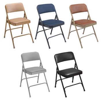 Body Builder Vinyl Padded Folding Chair By National Public Seating, 1200 Series