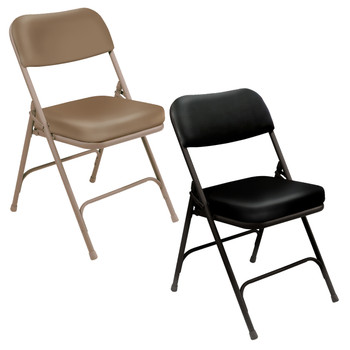 "Premium 2"" Thick Vinyl Padded Folding Chair By National Public Seating, 3200 Series"