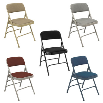 Body Builder HD Fabric Padded Folding Chair By National Public Seating, 2300 Series